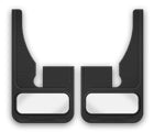 Cloud-Rider Advantage M.F. - Universal Mud Flap Dodge Front Cut Universal Flaps (Pair)