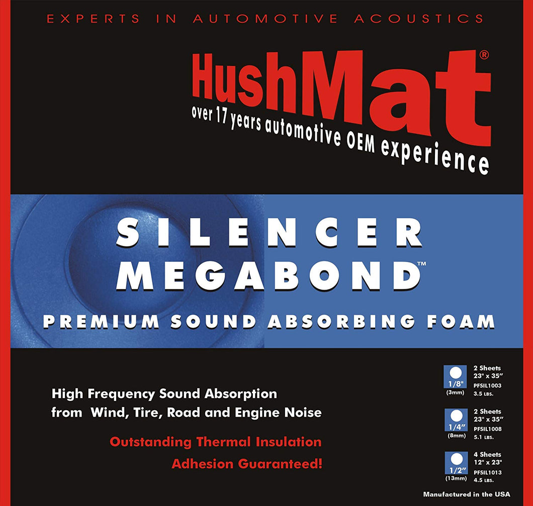 HushMat 20300 Silencer Megabond Foam with Insulating Sheet - 4 Piece