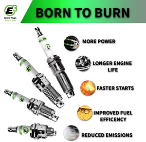 E3 E3.53 Performance Spark Plugs - Late Model Domestic 2PACK Automotive Spark Plug