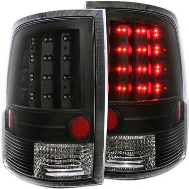 ANZO USA 311144 Tail Light Assembly - LED; Tail Light Assembly- LED; Red/ Clear Lens; Black Housing; LED; Clear Bulb; Set of 2