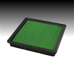 Green Filter 2404 Air Filter; OEM Series; Washable; Green; Cotton Gauze; Panel; 10.188 Inch Length x 9-1/2 Inch Width x 1 Inch Height