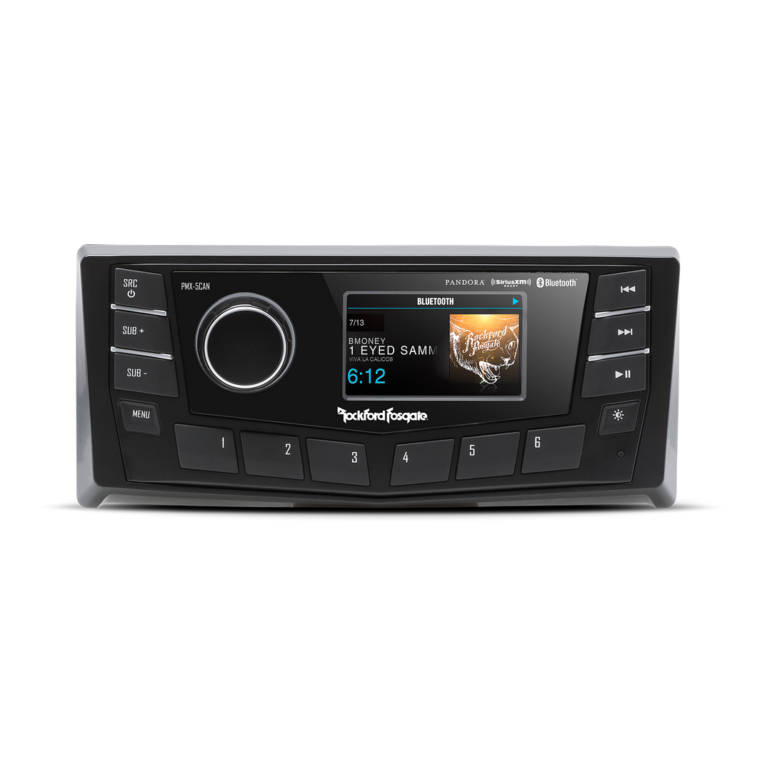 Rockford Fosgate PMX-5CAN Marine digital media receiver with Bluetooth® and CANbus connectivity (does not play CDs)