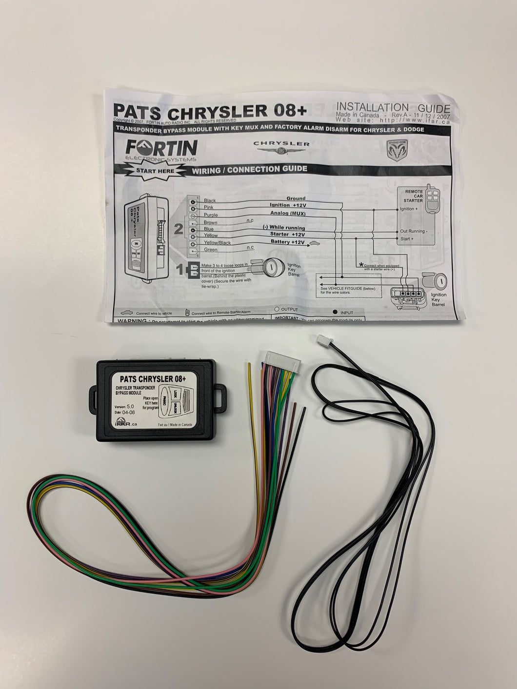 Fortin PATS-CHRYSLER-08+ - CHRYSLER BYPASS KIT