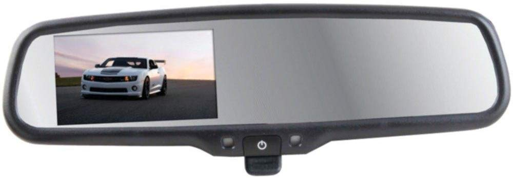 "Crimestopper - OEM Style Replacement Rear View Mirror with 4.3"" LCD Display & Manual Dimming Switch"
