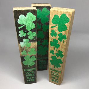 Shamrock Barrel Stave Tap Handle