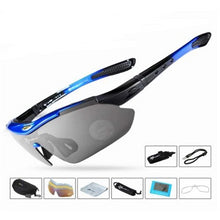 Load image into Gallery viewer, Medium blue glasses / China Cyclist Polarized Sunglasses