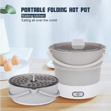 Load image into Gallery viewer, Portable Hot Pot Folding Electric Skillet