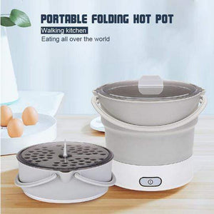 Portable Hot Pot Folding Electric Skillet