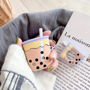 White Cutest Cartoon Airpods Case