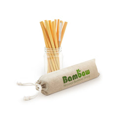 Natural Bamboo Straws 12 pack