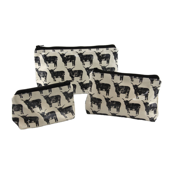 Highland Cow Oil Cloth Bags