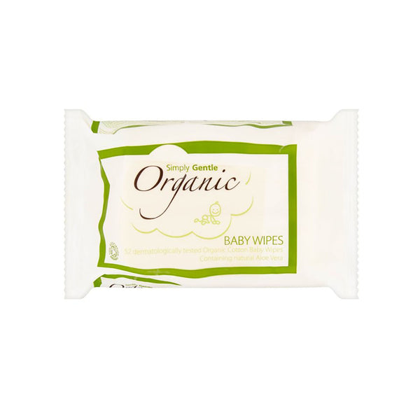 Simply Gentle Organic Baby Wipes Pack of 52 wipes