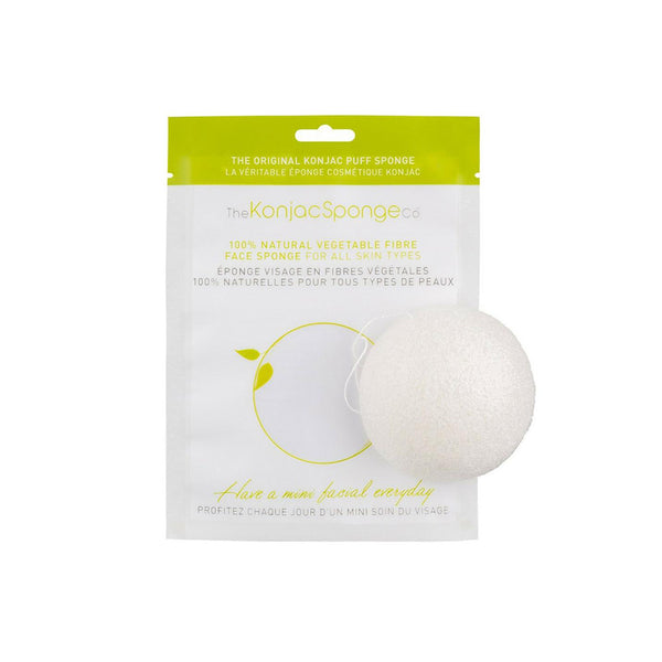 Pure Konjac Original Facial Puff Natural Sponge