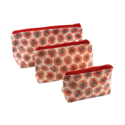 Red Dandelion Oil Cloth Bags