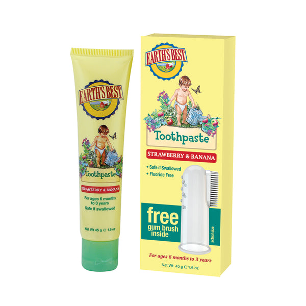 Earth's Best Toddler Strawberry and Banana Toothpaste 45g