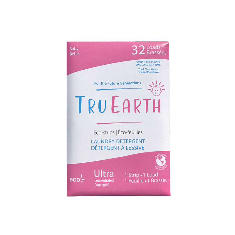 Tru Earth Baby Laundry Detergent Eco-Strips 32 washes