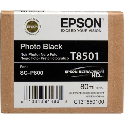 EPSON T850 UltraChrome HD Ink 80ml Cartridge-P800 printers - InkJet Supply Pro