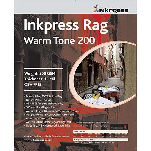 InkPress Rag Warm Tone 200 GSM Double-Sided Paper Sheets - InkJet Supply Pro