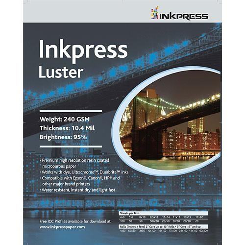 Inkpress Luster Sheets - InkJet Supply Pro