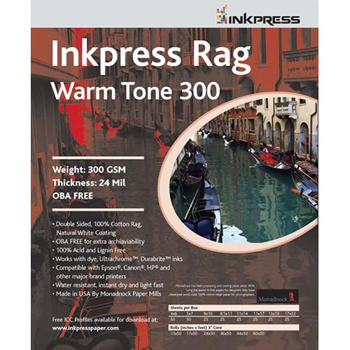 InkPress Rag Warm Tone 300 GSM Double-Sided Paper - InkJet Supply Pro