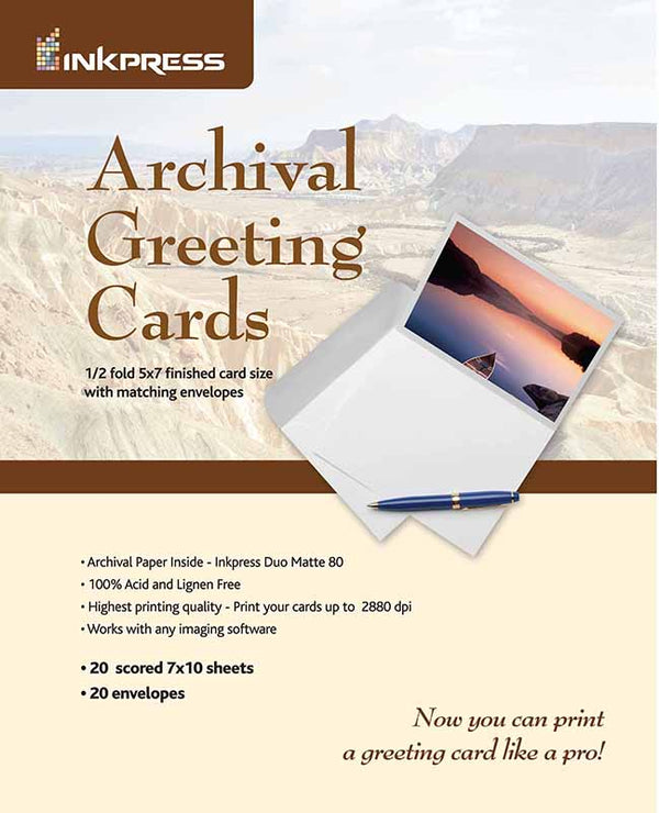 Inkpress Duo Matte 80 Archival Greeting Cards - InkJet Supply Pro
