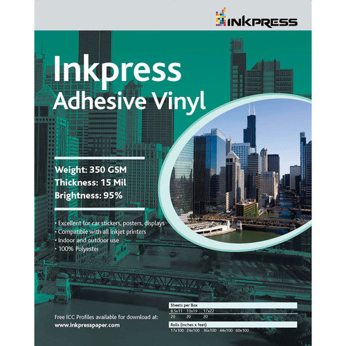 Inkpress Repositionable Adhesive Vinyl Sheets - InkJet Supply Pro