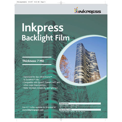 InkPress Backlight Film Roll - InkJet Supply Pro
