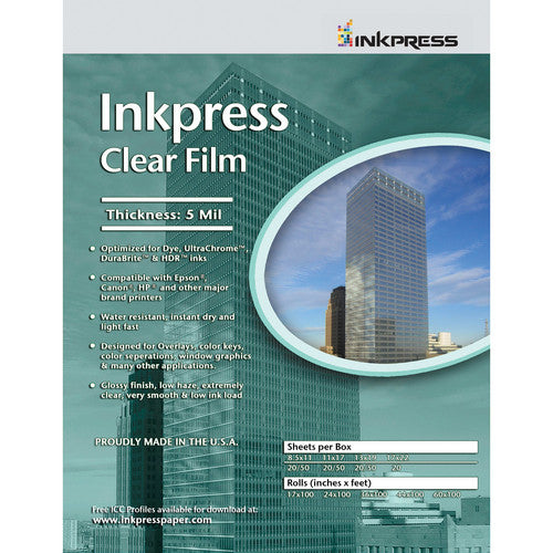 InkPress Clear Film Roll - InkJet Supply Pro