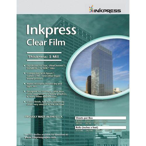 InkPress Clear Film Sheets - InkJet Supply Pro