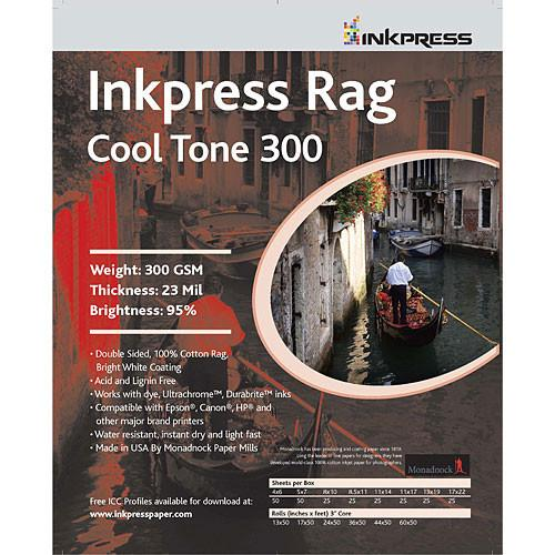 InkPress Rag Cool Tone 300 GSM Double-Sided Sheets - InkJet Supply Pro