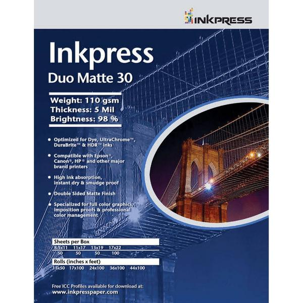 Inkpress Duo Matte 30 Paper - InkJet Supply Pro