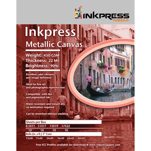 InkPress Metallic Canvas Rolls - InkJet Supply Pro