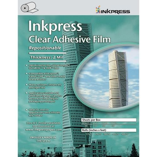 Inkpress Repositionable Adhesive Clear Film Sheets - InkJet Supply Pro