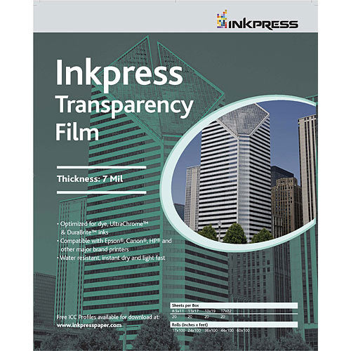 InkPress Transparency Film Roll - InkJet Supply Pro