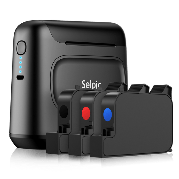 Selpic S1 Portable Printer Set + 3 Quick-drying Ink Cartridges - selpic
