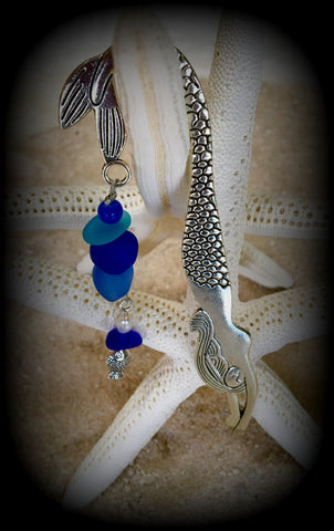 Mermaid and Sea Glass Bookmark by Reborn Glass