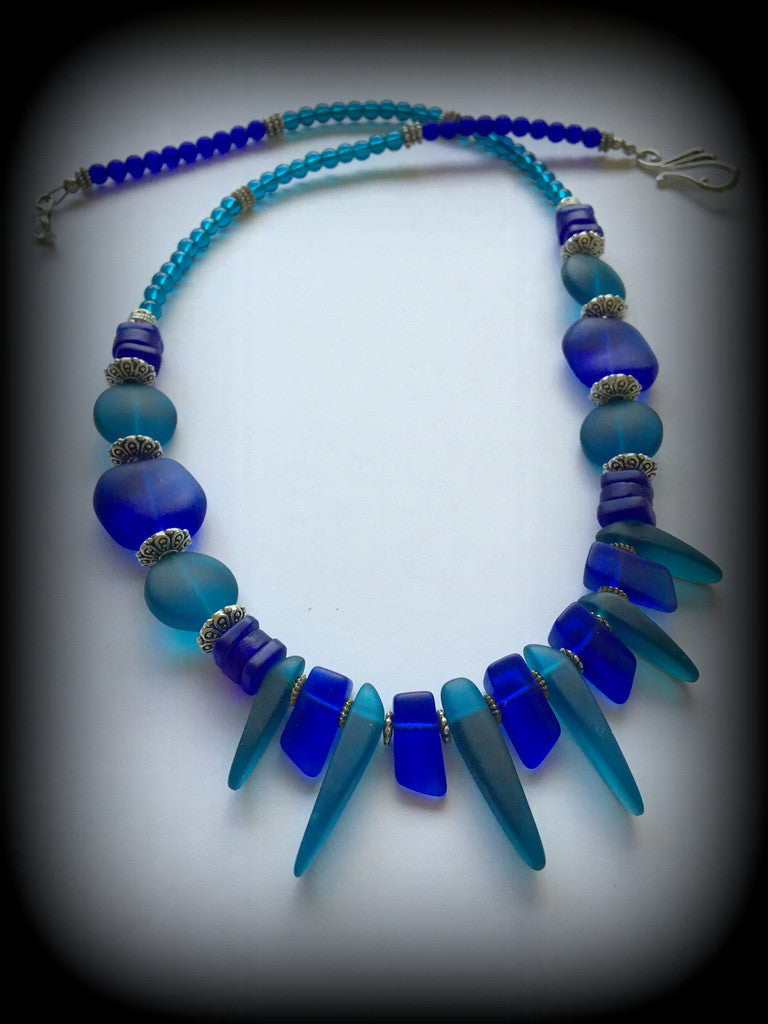 Sea Glass Necklace: Changing Tides Series - RebornGlass.com
