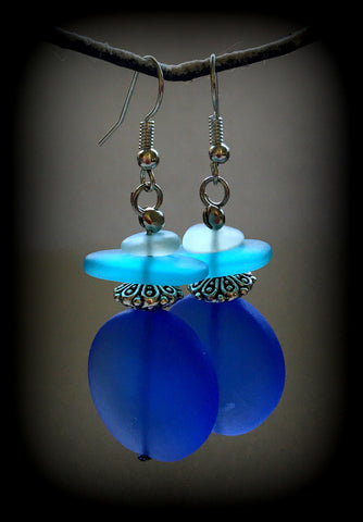 Sea Glass Earrings Reborn Glass Changing Tides Series