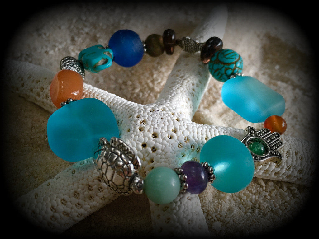 Changing Tides Prayer Bracelet - RebornGlass.com