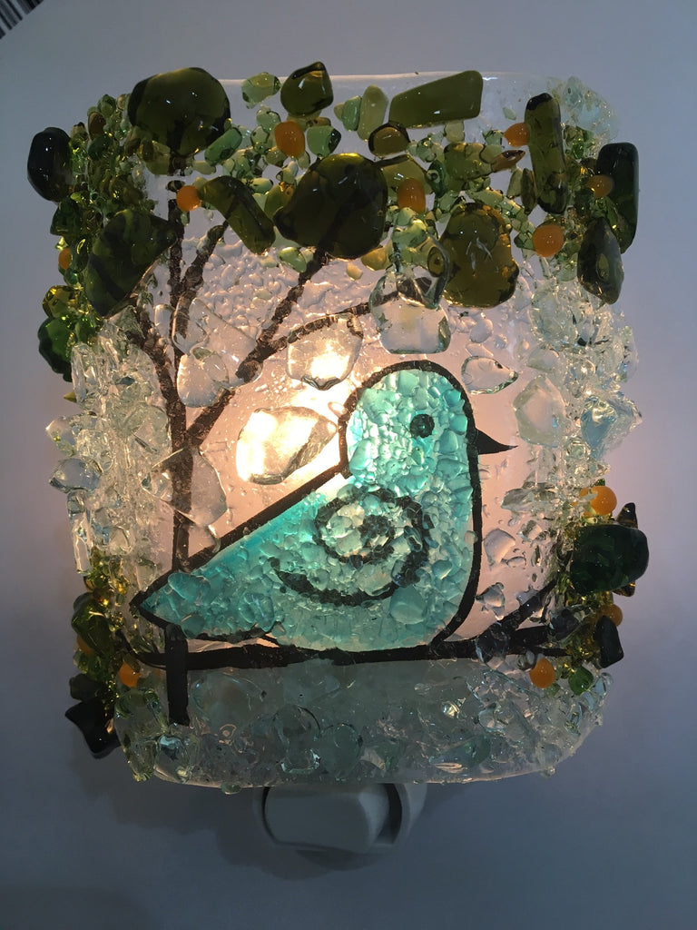 Bird of Happiness Reborn Glass Night Light - RebornGlass.com