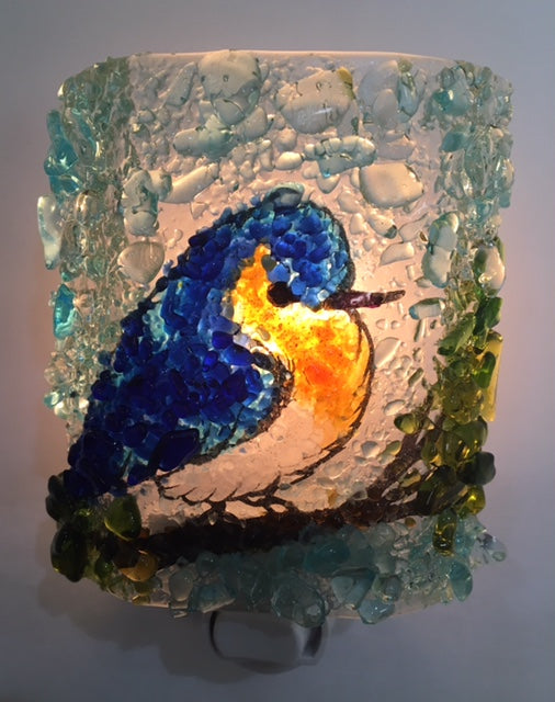 Bluebird Night Light - RebornGlass.com
