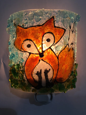Fox Reborn Glass Nightlight
