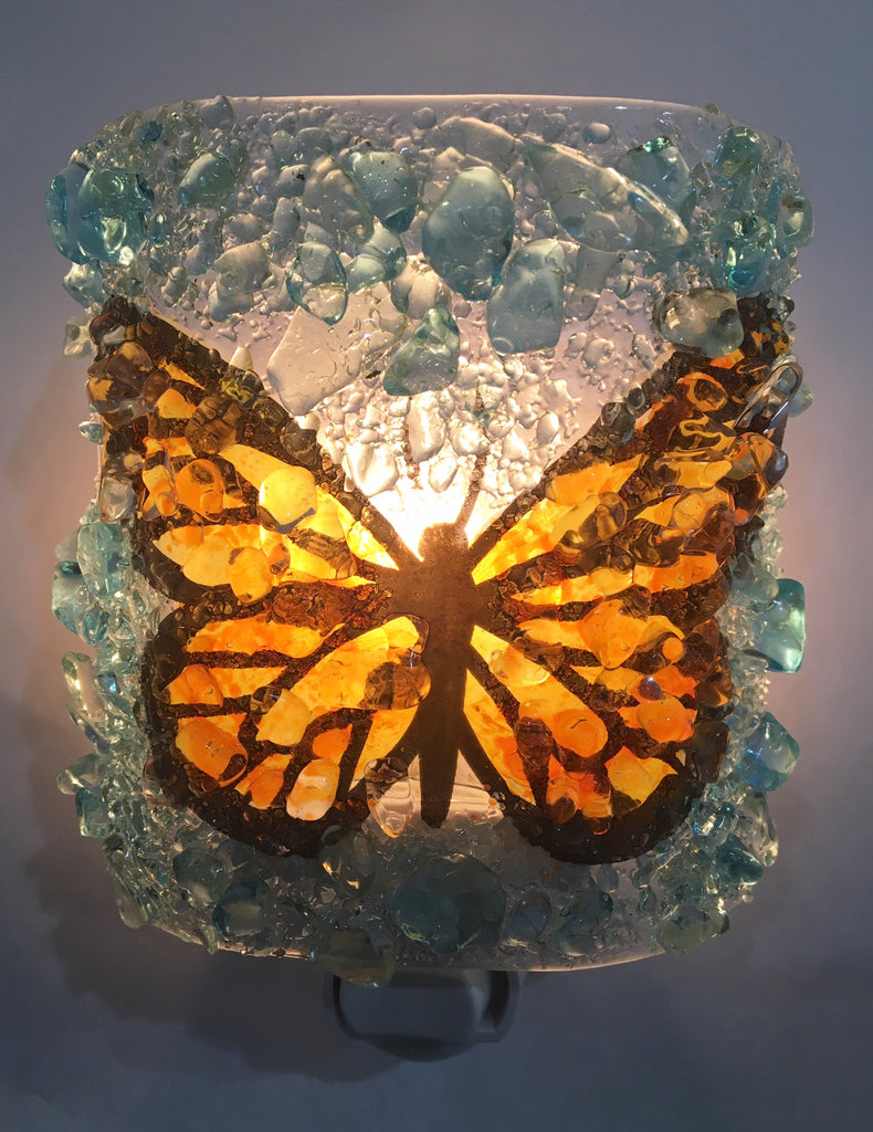 Monarch Butterfly Night Light - RebornGlass.com