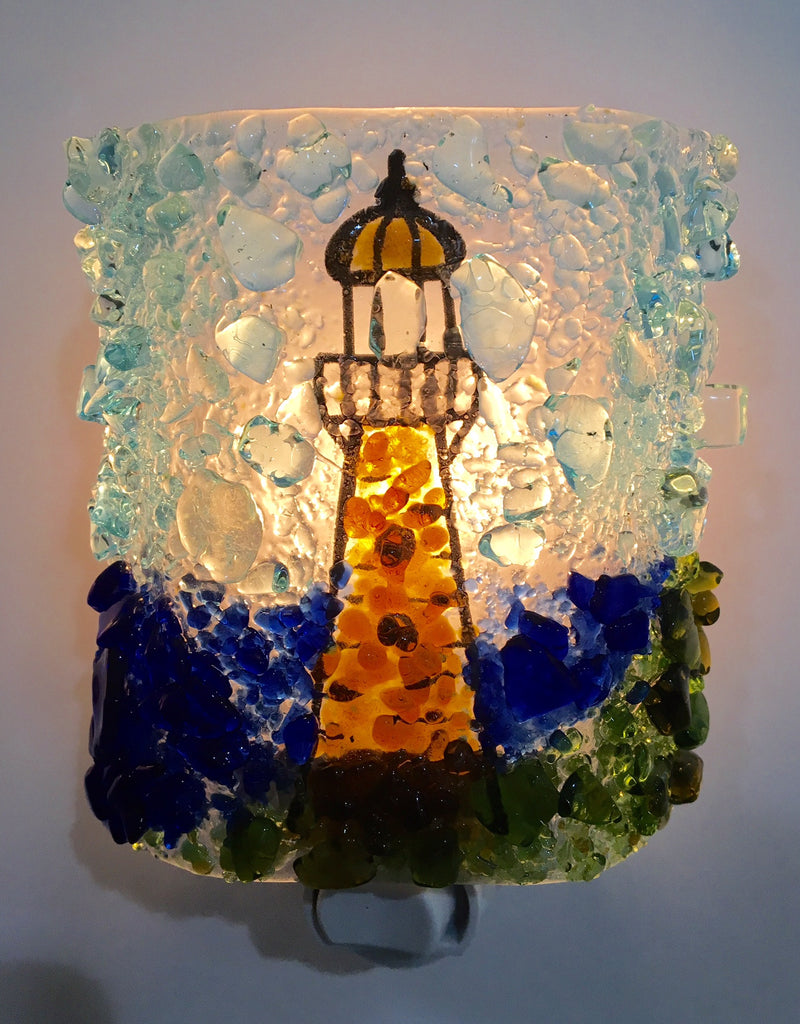 Lighthouse Night Light - RebornGlass.com