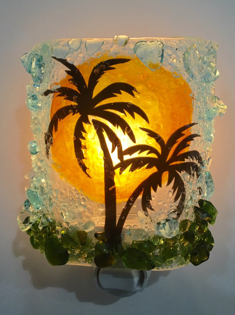 Palm Tree Night Light - RebornGlass.com
