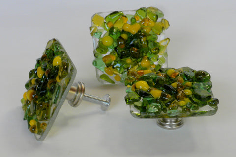 Lemon Lime--Reborn Glass Knobs & Drawer Pulls