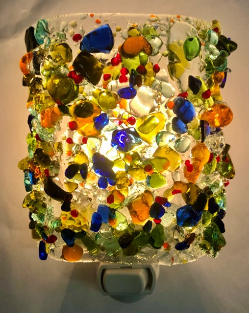 Happy Hour! Recycled Glass Night Light
