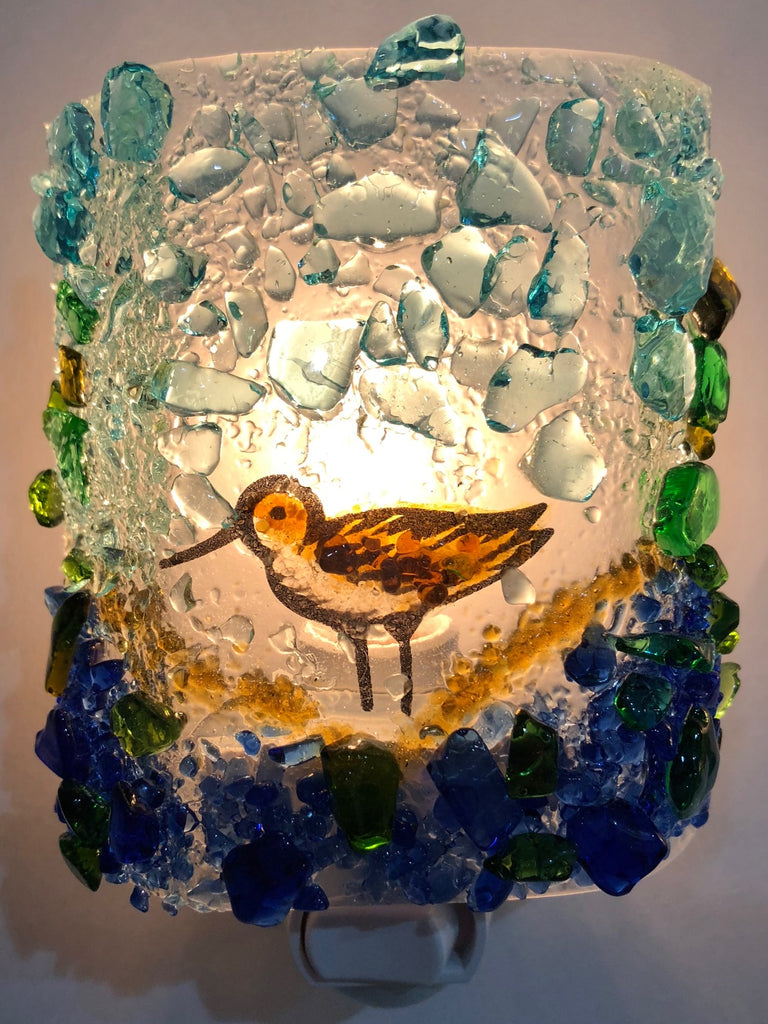 Sandpiper Night Light - RebornGlass.com
