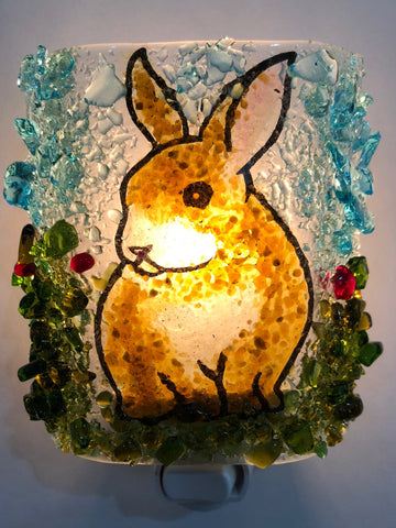 Brown and White Bunny Night Light