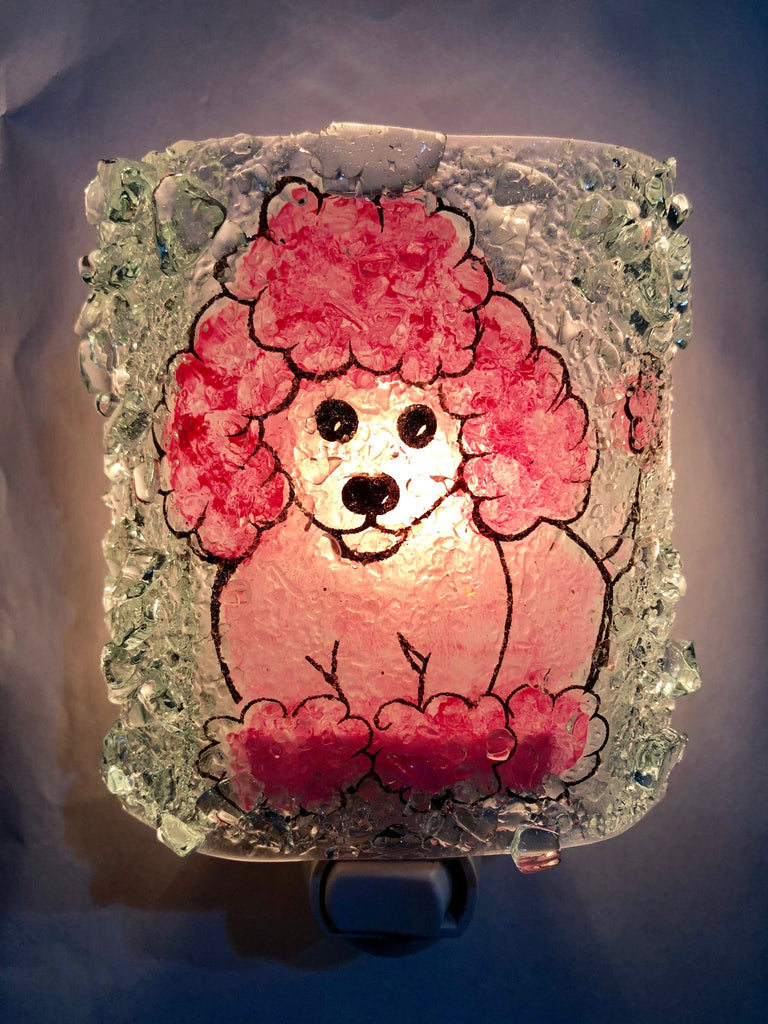 Poodle Recycled Reborn Glass Night Light - RebornGlass.com